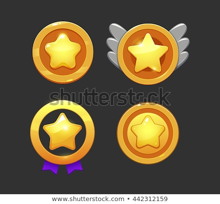 user golden vector icon design stock photo © rizwanali3d