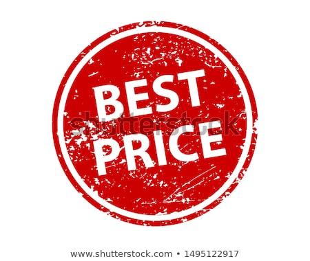 Beste prijs Rood vector icon ontwerp digitale Stockfoto © rizwanali3d