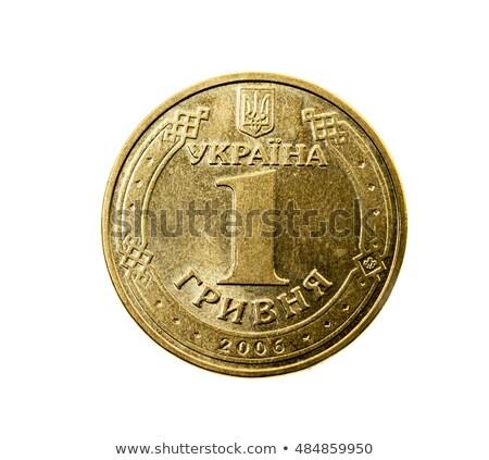 Moneda moneda de oro signo aislado oscuro éxito Foto stock © netkov1