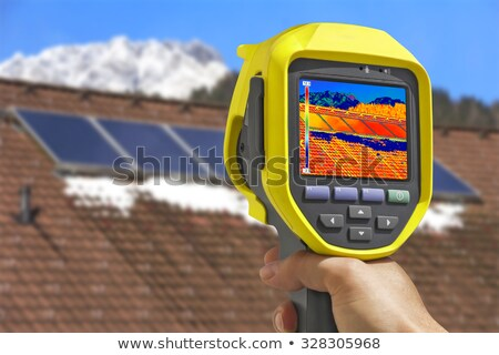 Recording Solar Panels with Thermal Camera  Stock photo © smuki