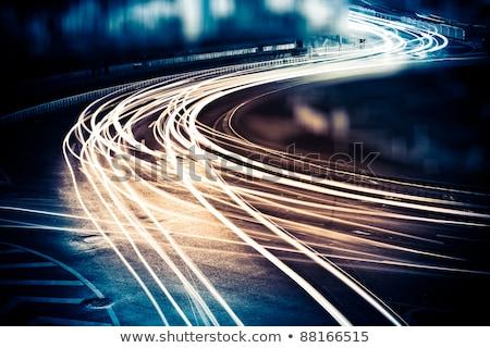 Trafik gece yollar sokak lambalar yol Stok fotoğraf © Mikko