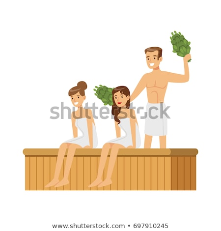 Sauna estância termal terapia jovem grupo Foto stock © lunamarina