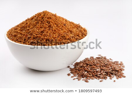 Organic Linseed or Flaxseed in ceramic bowl. Stock photo © ziprashantzi