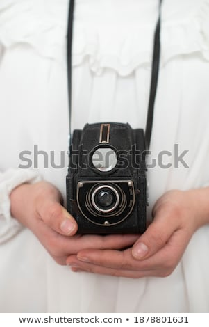 Meisje verouderd camera business vrouw mode Stockfoto © Paha_L