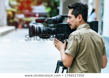 boy with camcorder Stock photo © Paha_L