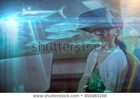 Hal úszik tank akvárium tenger kék Stock fotó © wavebreak_media