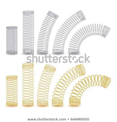 Metal spring coil Stock photo © dezign56