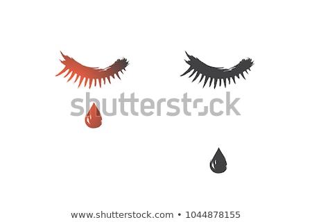 Kadın gözleri kapalı Asya vektör dizayn örnek Stok fotoğraf © RAStudio