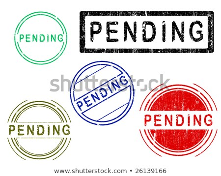 5 grunge effect office stamps   pending stock photo © pokerman