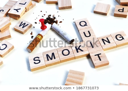 Stock photo: Puzzle with word Quit