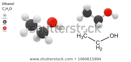 Ethanol molecular formula Stock photo © bluering