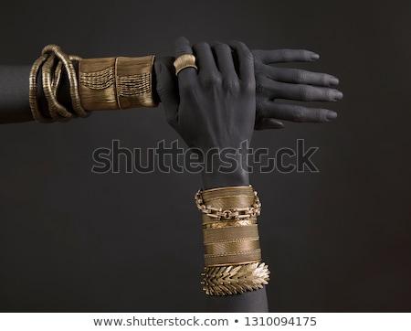 アンティーク · トルコ語 · ブレスレット · ネックレス · 銀 · 古い - ストックフォト © lubavnel