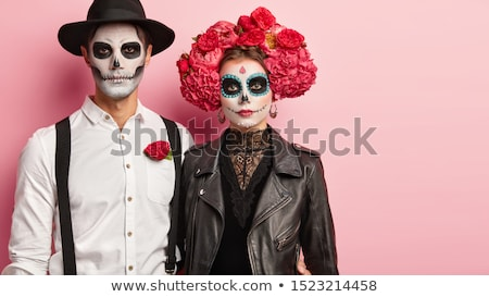 Halloween couple in studio Stock photo © bezikus