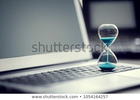 クロック コンピュータのキーボード ビジネス 通信 ネットワーク ストックフォト © devon