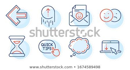 quick swipe left line icon stock photo © rastudio