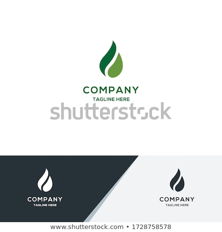 ストックフォト: ベクトル · 油 · ガス · エネルギー · ロゴ · 火災