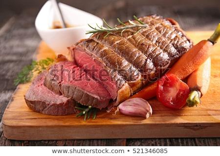 carne · de · vacuno · filete · papa · frescos · ensalada · alimentos - foto stock © m-studio