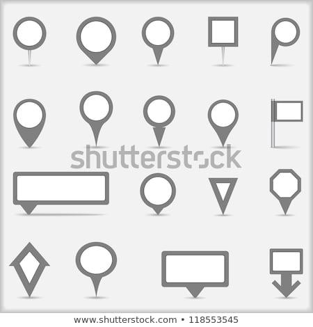 conjunto · mapa · pin · assinar · localização · ícone - foto stock © panaceadoll