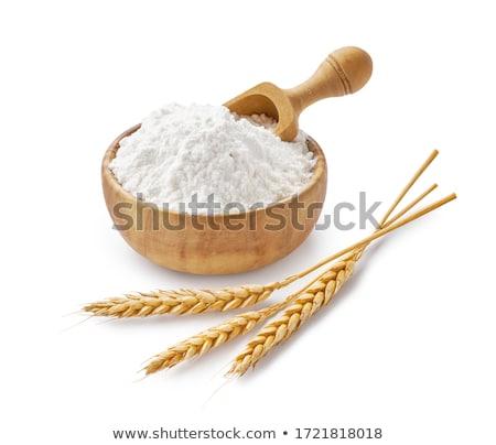 Witte meel zachte tarwe macro Stockfoto © Digifoodstock