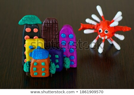 Funny house made from colorful plasticine Stock photo © carenas1