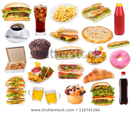 Stock photo: collection of junk food