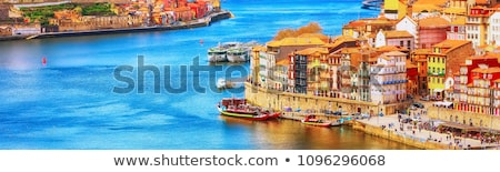 Oude binnenstad skyline Portugal kabel auto Stockfoto © joyr