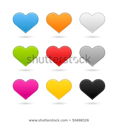 Dziewięć kolor serca internetowych przyciski biały Zdjęcia stock © Natali_Brill