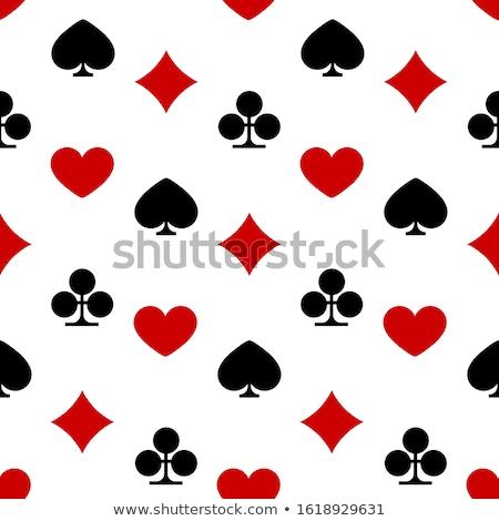 Kártyapakli öltönyök végtelen minta szív gyémánt klub Stock fotó © day908