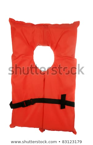 Professionele oranje zwemvest geïsoleerd witte textuur Stockfoto © kayros