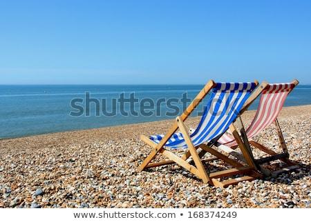 dois · cadeiras · varanda · quadro · janela · flor - foto stock © iofoto