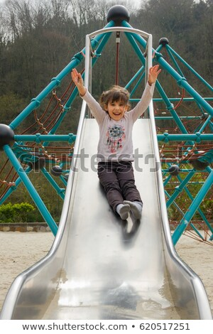 Girl Slide Down Stock photo © FOTOYOU