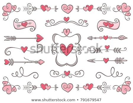 sevgililer · günü · tebrik · dizayn · kalpler · çerçeve · kalp - stok fotoğraf © galyna_tymonko