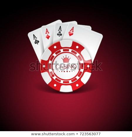 казино игорный Элементы красный прибыль на акцию 10 Сток-фото © articular