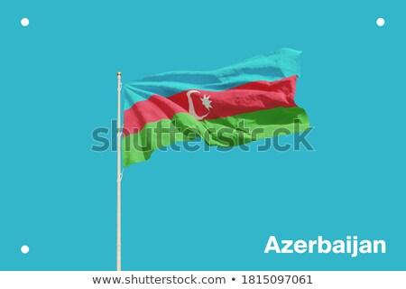 bandera · Azerbaiyán · signo · viaje · país · botón - foto stock © amplion