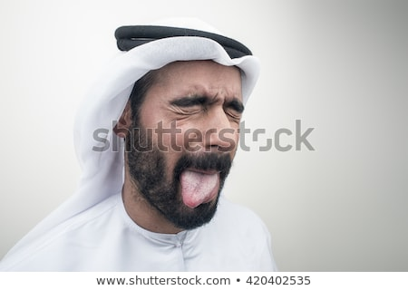 weird business man sticking out his tongue  Stock photo © feedough