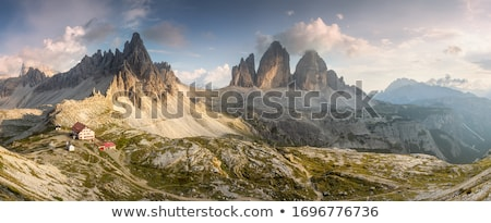 Foto d'archivio: National Nature Park Tre Cime In The Dolomites Alps Beautiful N