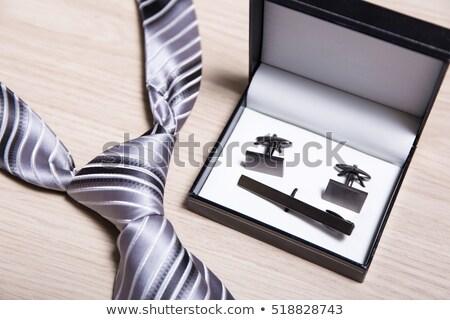 mandzsetta · linkek · modern · kortárs · üzlet · nyakkendő - stock fotó © elnur