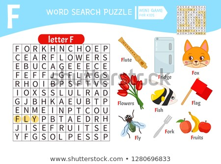 puzzle letters of the alphabet f Stock photo © Olena