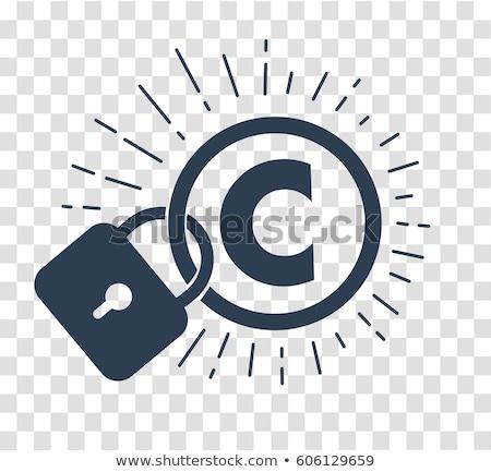 Foto stock: Silhueta · ícone · proteção · direitos · autorais · propriedade · intelectual · forma