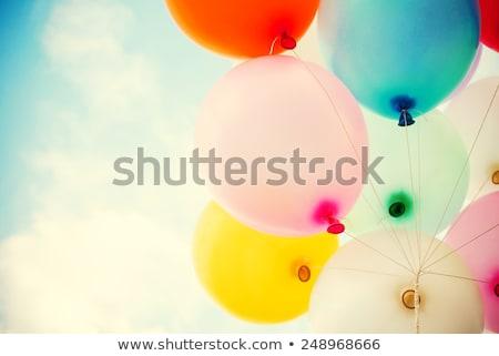 Kartpostal renkli balonlar eğim mutlu Stok fotoğraf © barbaliss
