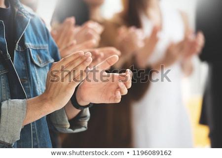 人 拍手 手 笑みを浮かべて 女性 男 ストックフォト © IS2