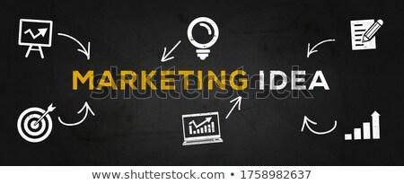Online Advertising Concept. Multicolor on Dark Brickwall. Stock photo © tashatuvango