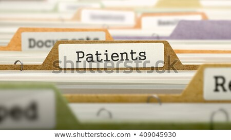 Folder Register with Patients. 3D. Stock photo © tashatuvango
