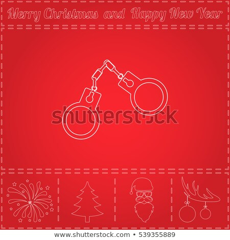 Arrested Santa Claus in handcuffs. Vector illustration Stock photo © popaukropa
