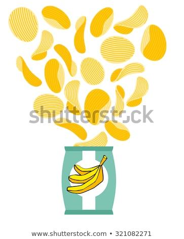 witte · voedsel · verpakking · geïsoleerd · papier · zak - stockfoto © popaukropa