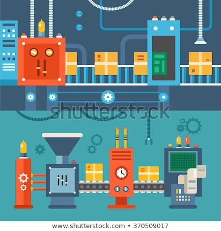Produkcji centrala przyciski przewody zaopatrywać elektrycznej Zdjęcia stock © popaukropa