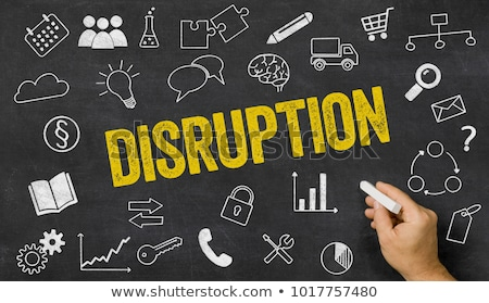 Disruption written on a blackboard with icons  Stock photo © Zerbor