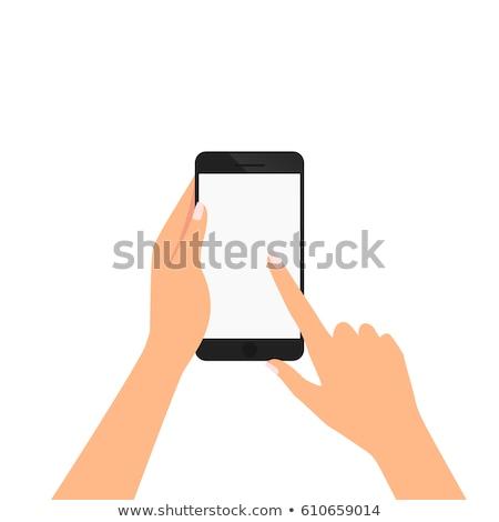 Kadın el grafik tablet yalıtılmış Stok fotoğraf © DenisMArt