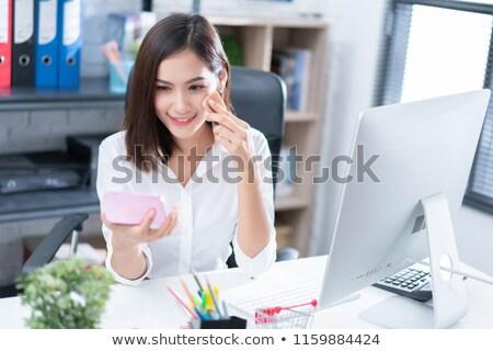 Mulher para cima cara glamour make-up Foto stock © IS2