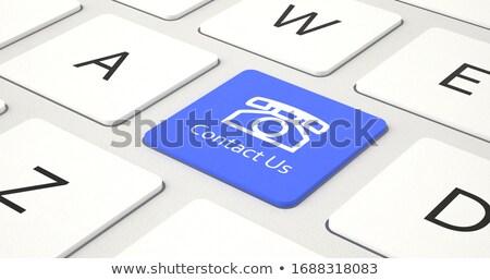 riparazione · blu · tastiera - foto d'archivio © tashatuvango